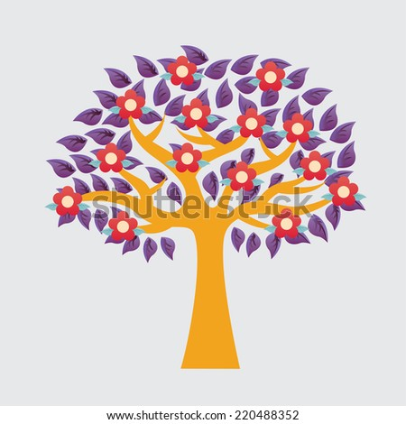 tree graphic design , vector illustration