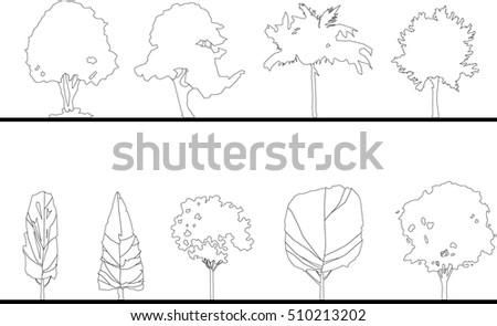 Architecture Tree Vector 1 Clip Art Vector Site