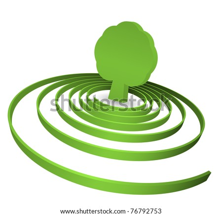 tree in spiral - concept - stock vector