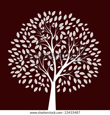 tree - individual elements for easy changes - stock vector