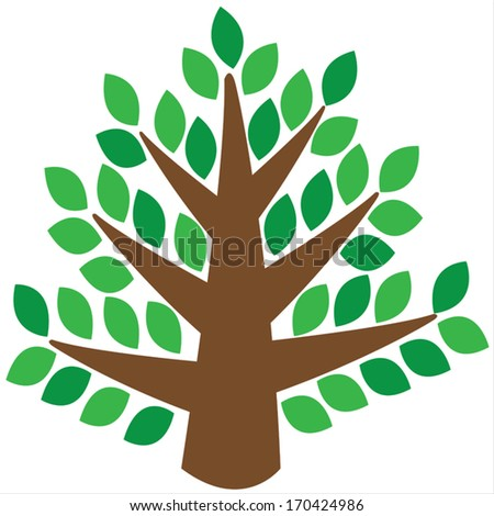 tree isolated on a white background - stock vector