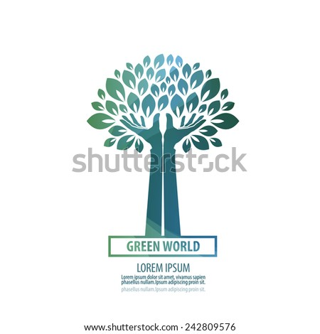 tree. logo, icon, sign, emblem, template - stock vector