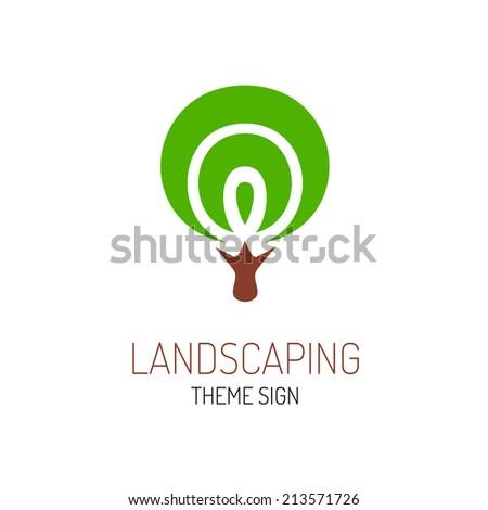 Tree logo template - stock vector