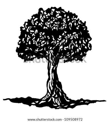 Tree of knowledge - stock vector