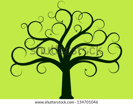 Tree of life with leaves - stock vector