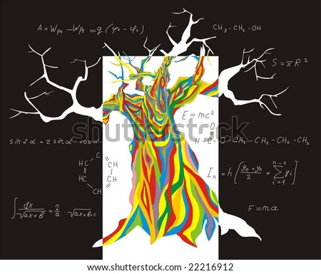 Tree of the cognition - stock vector