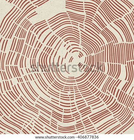 Tree Rings Background. - stock vector