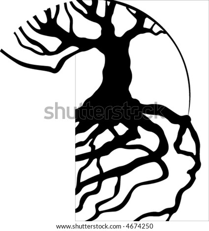 Tree Roots - stock vector
