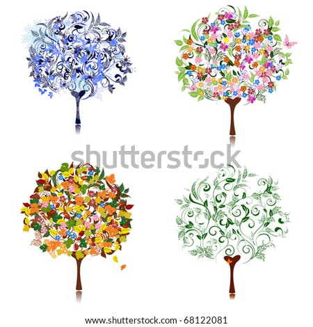 tree season - stock vector