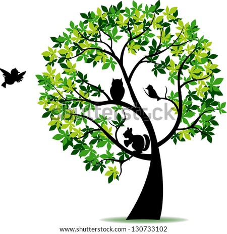 Tree silhouette - stock vector