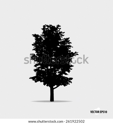 Tree silhouette. Vector illustration. - stock vector