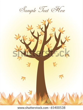 tree template or background - stock vector