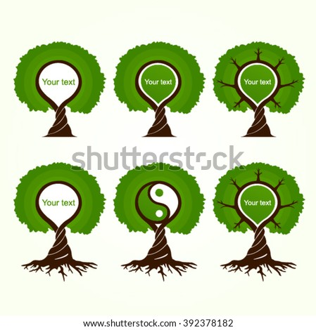 tree, tree of life, magic tree - stock vector