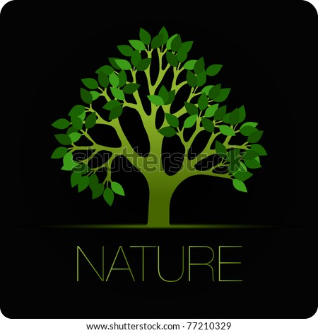 tree vector icon nature background - stock vector