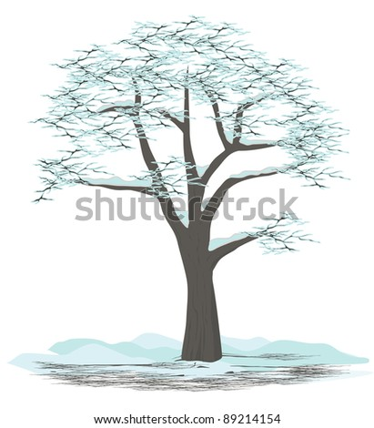 Tree vector - winter