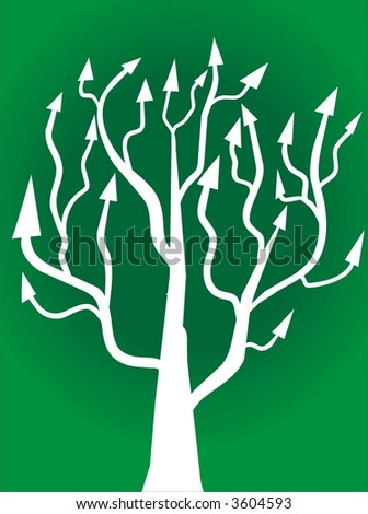 tree with arrows - stock vector