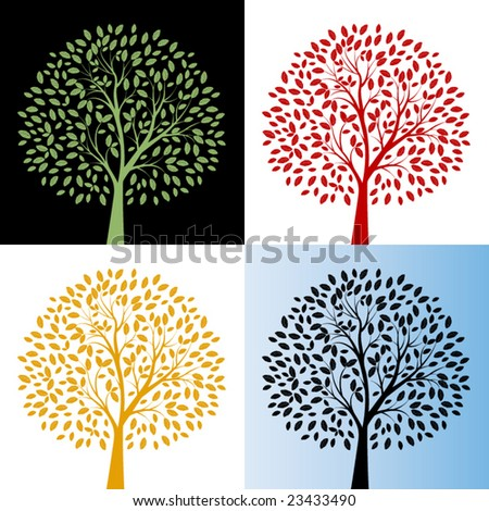 Tree with color choices - Each tree one unit