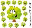 tree with many expressions - stock vector