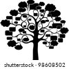 Tree With Speech Bubble, Isolated On White Background, Vector Illustration - stock vector