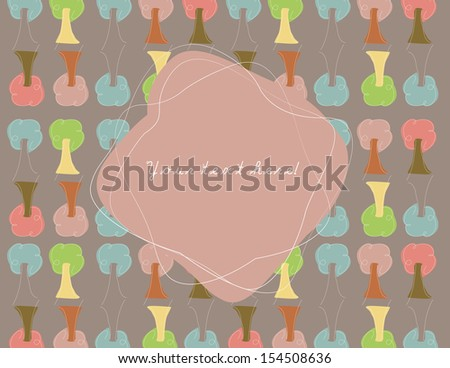 Trees Card - stock vector