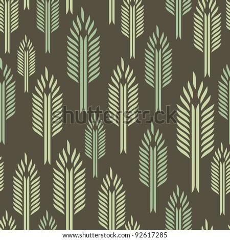 Trees - seamless pattern - stock vector
