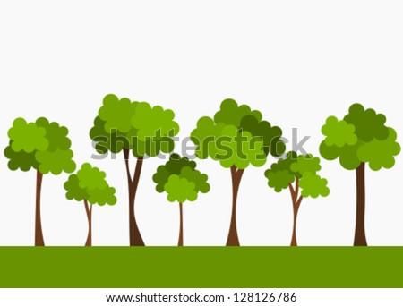 Trees. Vector illustration - stock vector