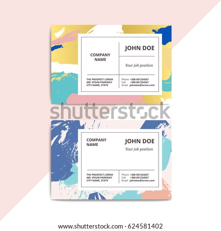 Trendy abstract business card templates modern imagem vetorial de trendy abstract business card templates modern luxury beauty salon or cosmetic shop layout with artistic reheart Image collections
