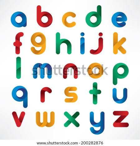 Trendy Alphabet Vector Design - stock vector