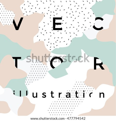 Trendy background. Retro style texture, pattern and geometric elements. Modern abstract design poster, cover, card design.