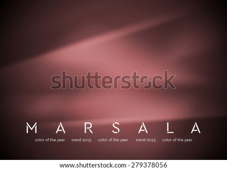 Trendy color marsala 2015. Smooth silk abstract background. Vector design - stock vector