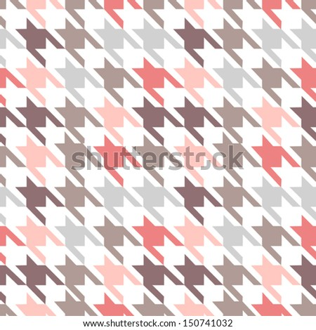 trendy fabric pattern - stock vector