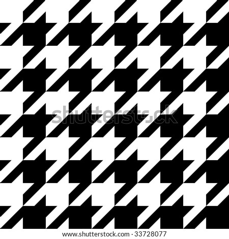 Trendy houndstooth pattern that tiles seamlessly as a pattern. - stock vector