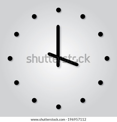 Trendy Minimalistic  Clock With Transparent Shadow