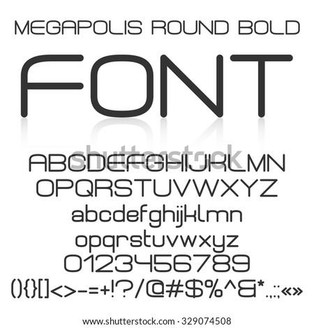 Trendy Modern Elegant Bold Font Alphabet Stock Vector ...