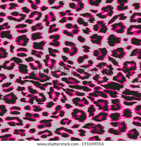 Trendy pink vector leopard print repeat pattern in 4 colors