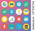 Trendy Premium Flat Icons for Web and Mobile Applications Set 2 - stock vector