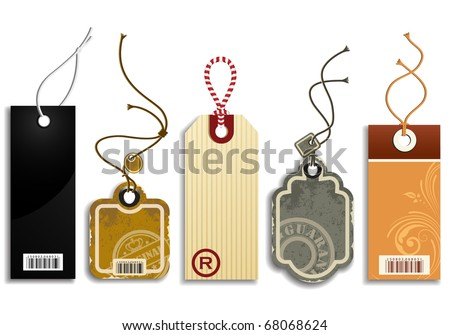 Trendy Price Tags - stock vector