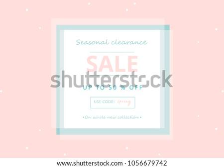 Trendy sale banner design different hand stock vector 1056679742