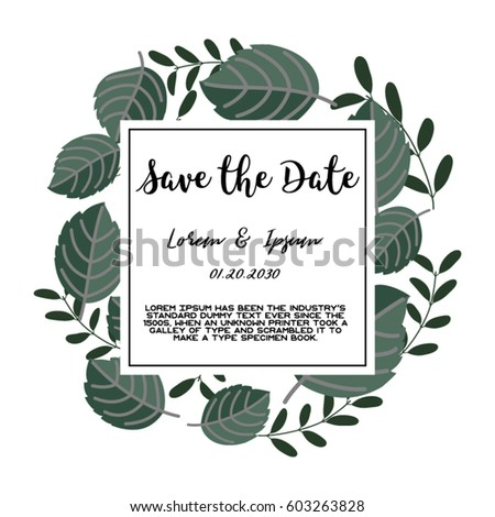 Trendy tropical jungle style vector invitation stock vector 2018 trendy tropical jungle style vector invitation template textured leaves flower background save the date stopboris Images