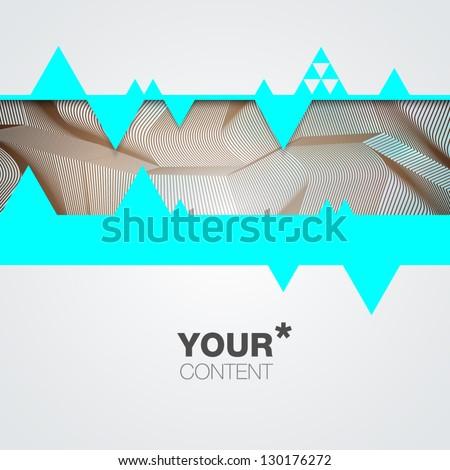 Trendy Vector Background - stock vector