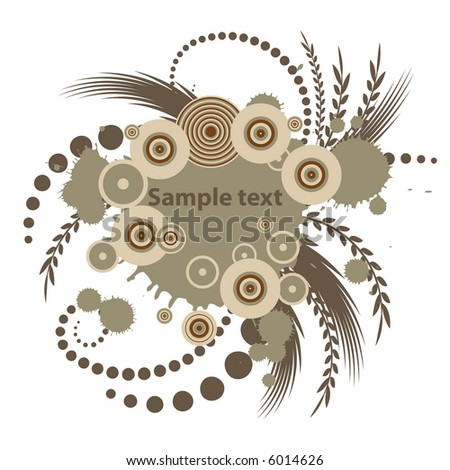 trendy vector floral design with room for text - stock vector