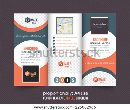 Tri-fold Brochure and Catalog Vector Concept Template  - stock vector