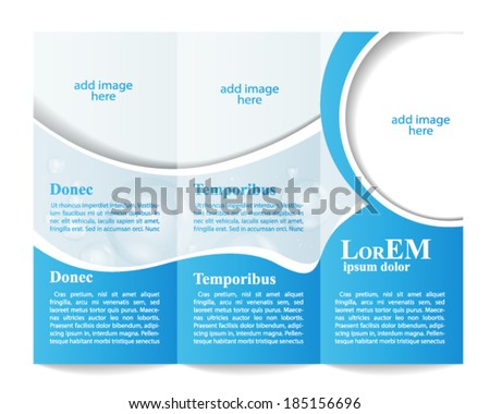 Tri fold brochure template stock vector for Water brochure template