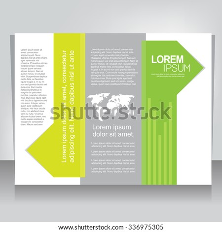 Trifold Brochure Template Stock Vector Shutterstock - Tri fold brochures templates