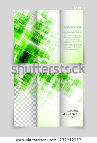 Tri-fold brochure template design in motion style