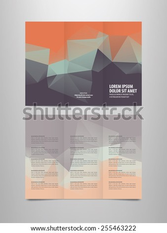 tri fold brochure vector template - stock vector
