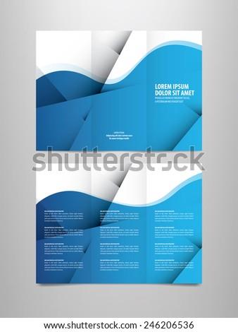 tri fold business brochure template - stock vector