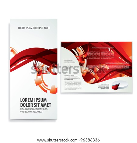 tri fold business brochure template - stock vector