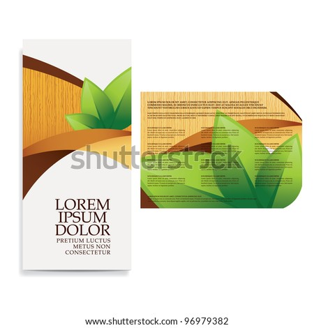 tri fold business brochure template - tri fold business brochure template stock vector 93394588