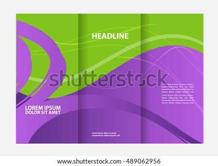 double sided tri fold brochure template - catalogue cover stock images royalty free images